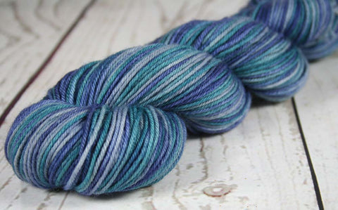 VENETIAN THUNDERSTORM: SW Merino-Nylon - DK weight yarn - Hand dyed Tonal yarn