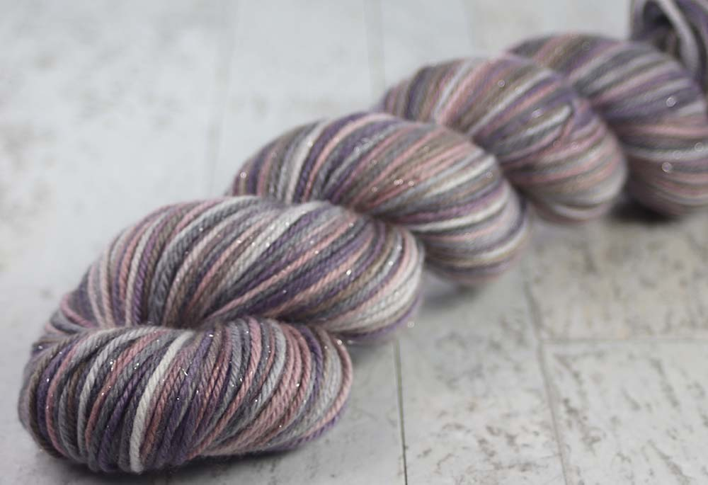 HAUNTED HOLLOWS: Merino / Silk / Stellina Sparkle - Hand-dyed Variegated DK Weight Yarn