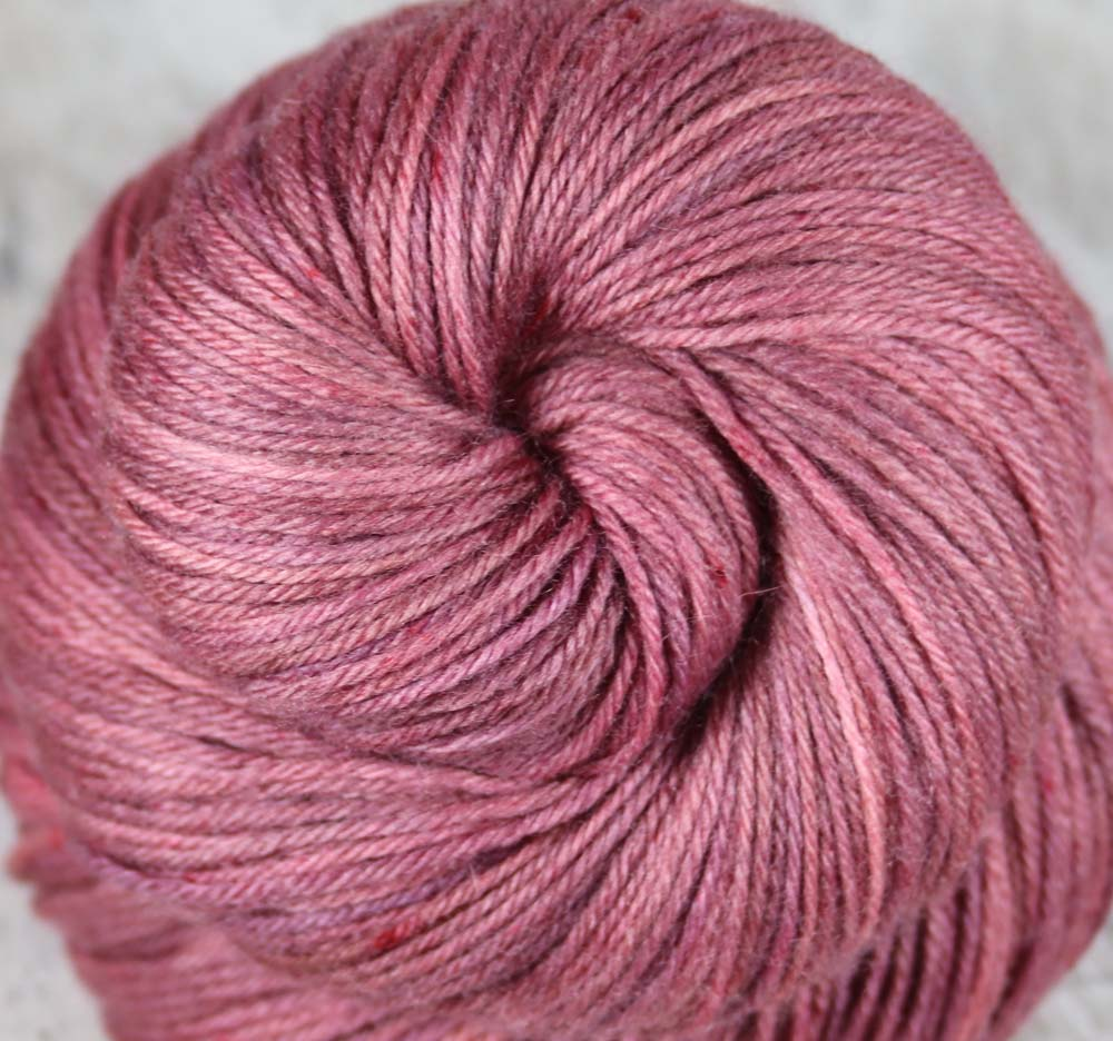 HAWAIIAN RED DIRT: SW Merino-Nylon-Cashmere - Hand dyed tonal sock yarn