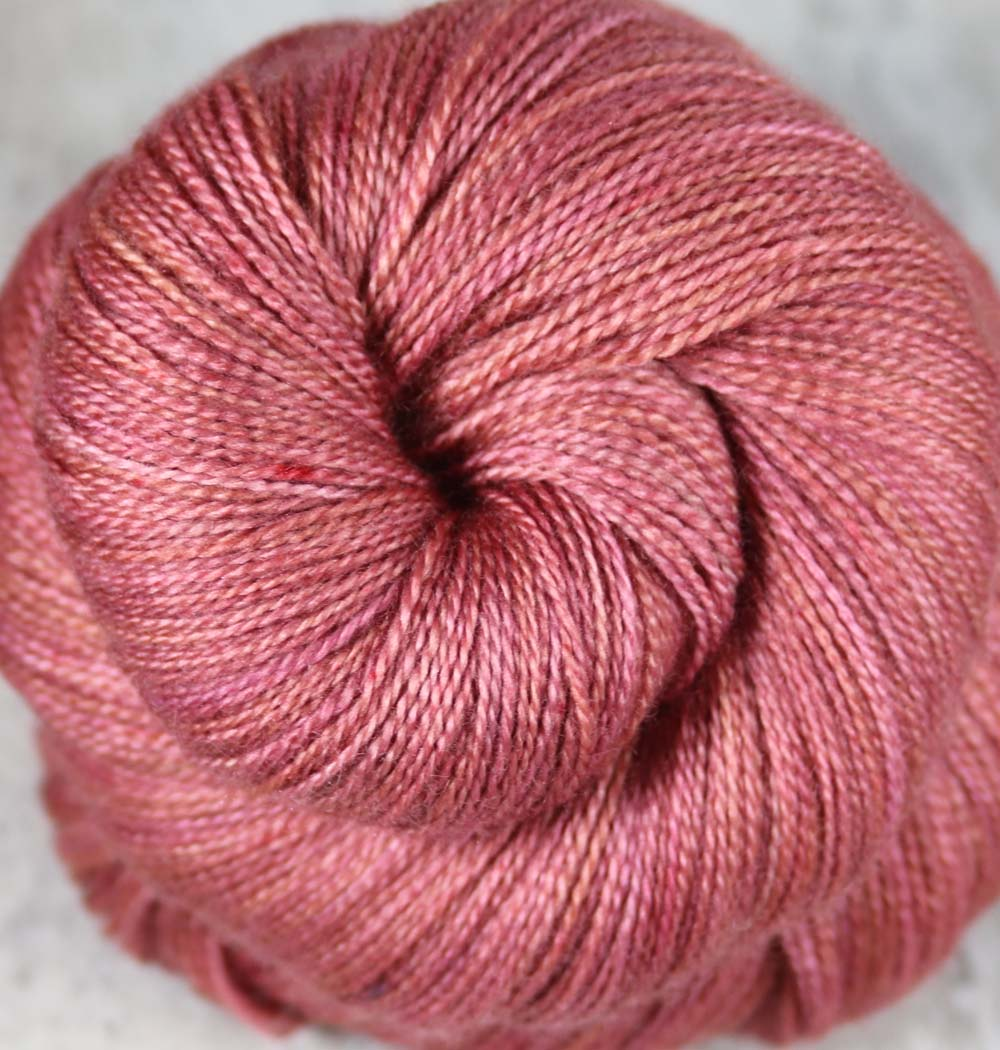 HAWAIIAN RED DIRT: Superfine Merino-Silk - Hand dyed Tonal Lace Weight Yarn