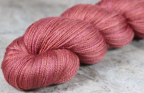 REDDINGITE: SW Merino Silk Stellina Sparkle - Hand-dyed Variegated Lace Weight Yarn
