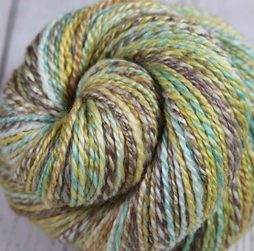 HORSE OF THE SPRING - Hand dyed, hand spun DK yarn