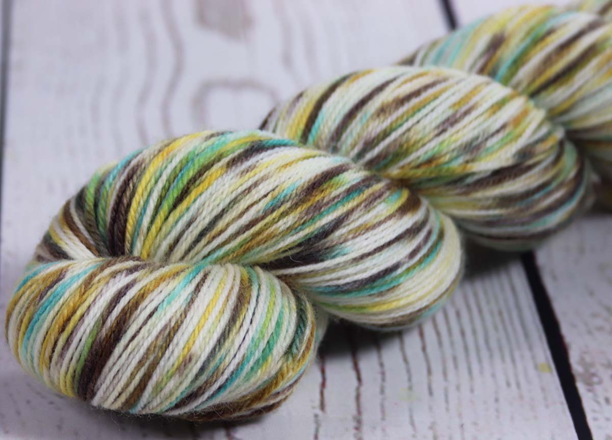HORSE OF THE SPRING: SW Targhee-Nylon - Hand dyed Variegated sock yarn - Masters Collection