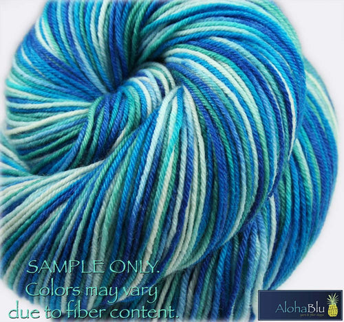 "Dyed to Order: ""INSIDE PASSAGE"" colorway - Sock yarn - Hand dyed - Variegated yarn - Alaska inspired yarn"