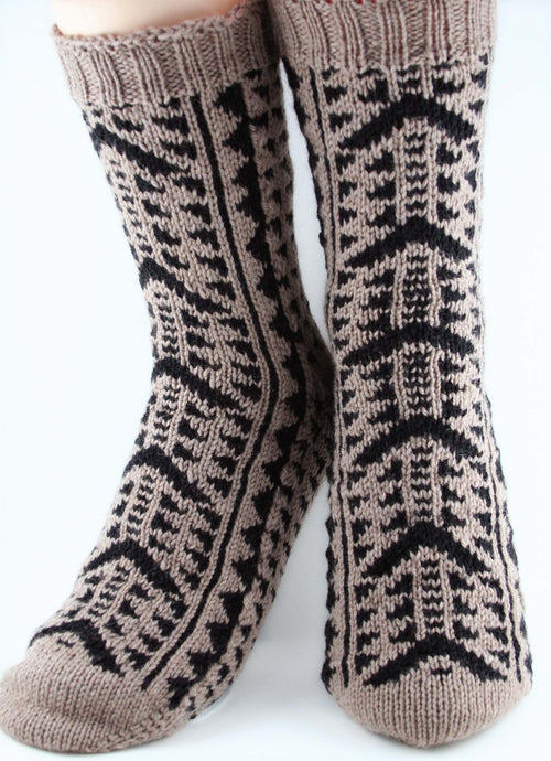 KNITTING PATTERN for Kane Socks -  Charted Colorwork Sock pattern - digital download