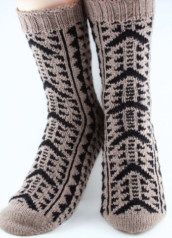 KNITTING PATTERN for Flag Socks: USA -  Charted Colorwork Sock pattern - digital download