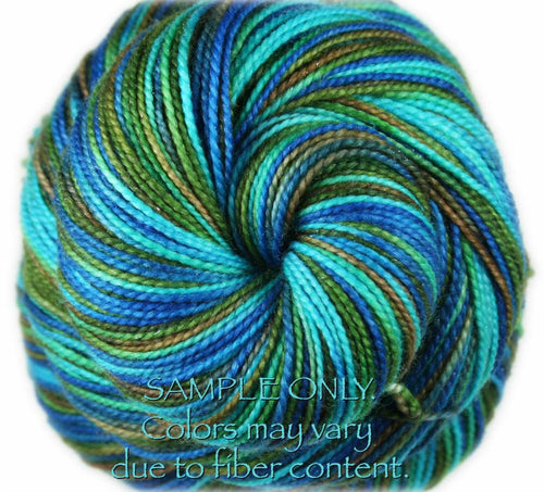 "Dyed to Order: ""LANIKAI VIEW PART 2"" colorway - Sock yarn -  Hand dyed - Variegated yarn - Hawaii inspired yarn"