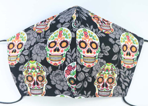 MASK: Flowers & Skulls #1 - Large