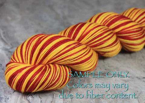 Pre-Order: HOUSE OF THE ROSE - Hand dyed Self Striping Sock Yarn - GOT - *Limited edition