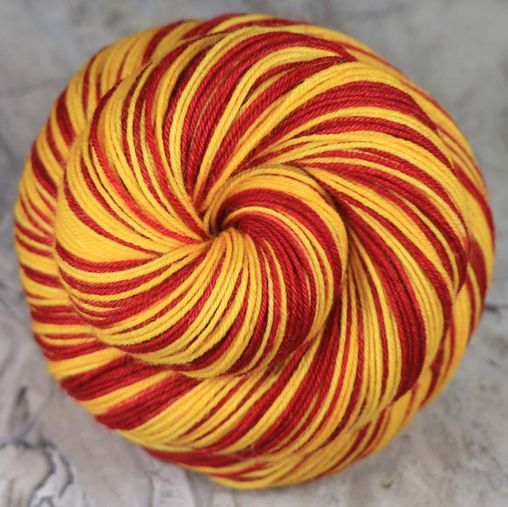 HOUSE of the LION: SW Merino-Nylon - Hand dyed Self-striping Sock Yarn - GOT