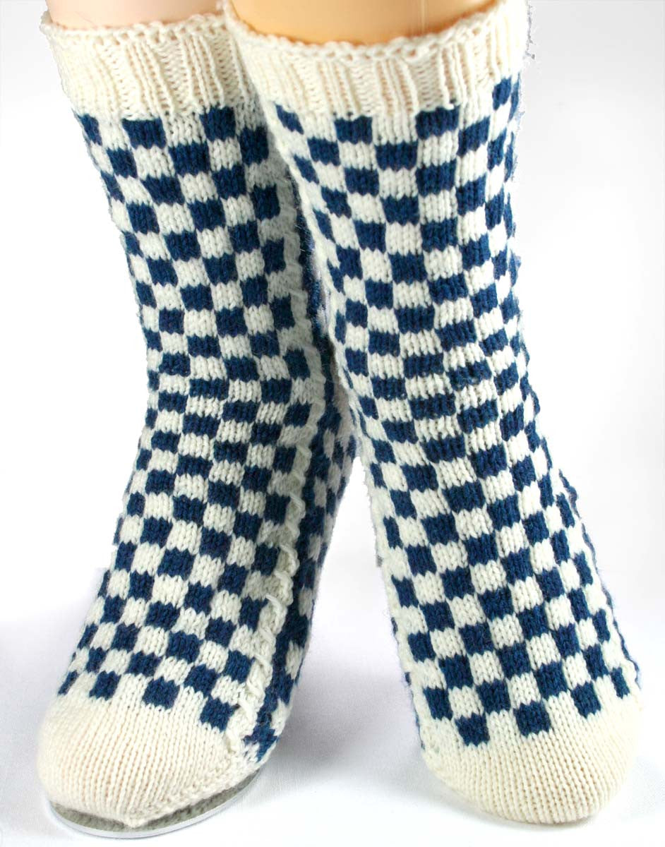 KNITTING PATTERN for LouisVuitton-Inspired Socks -  Charted Sock pattern - digital download - Colorwork Stranded knitting