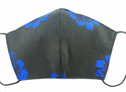 MASK: Blue Hibiscus - Large