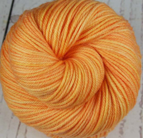 MANGO SORBET: Superwash Merino-Nylon - DK weight yarn - Hand dyed - Indie dyed - Tonal yarn - Orange Peach yarn - Tropical fruit yarn