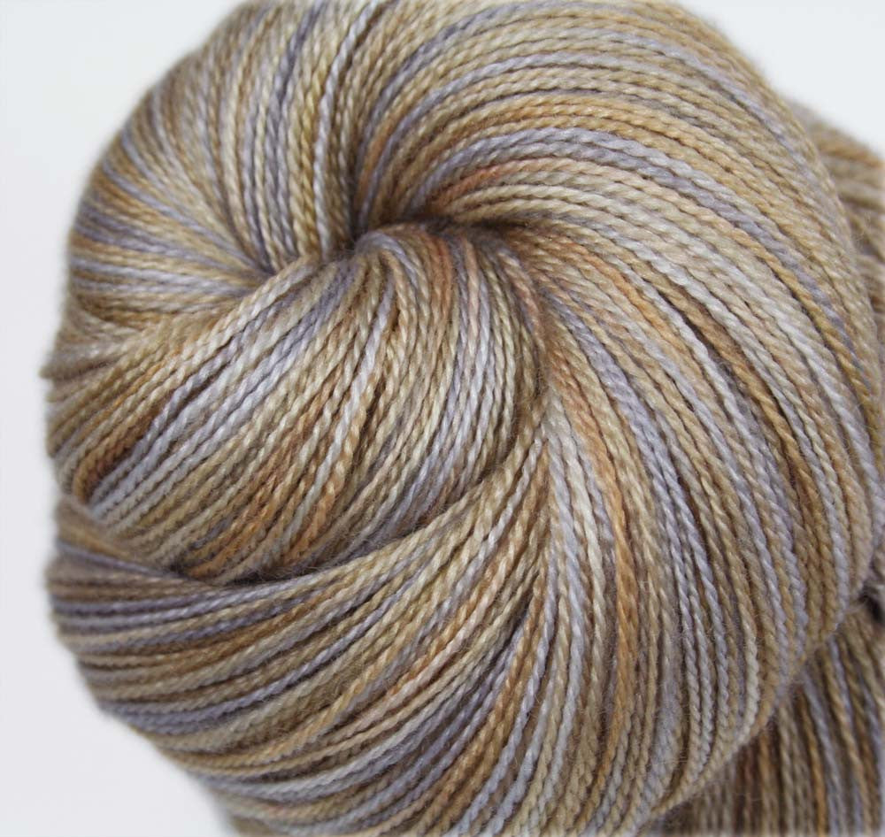 MEDIEVAL WALL: Superfine Merino-Silk - Lace Weight Yarn - Hand dyed lace yarn - Indie dyed lace - Variegated yarn - Neutral colors lace yarn