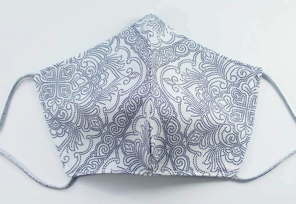 MASK: Damask in White #1 - Medium