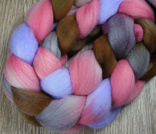 MEMORY: Falkland wool roving - 4.0 oz - Hand dyed - Indie dyed - spinning wool