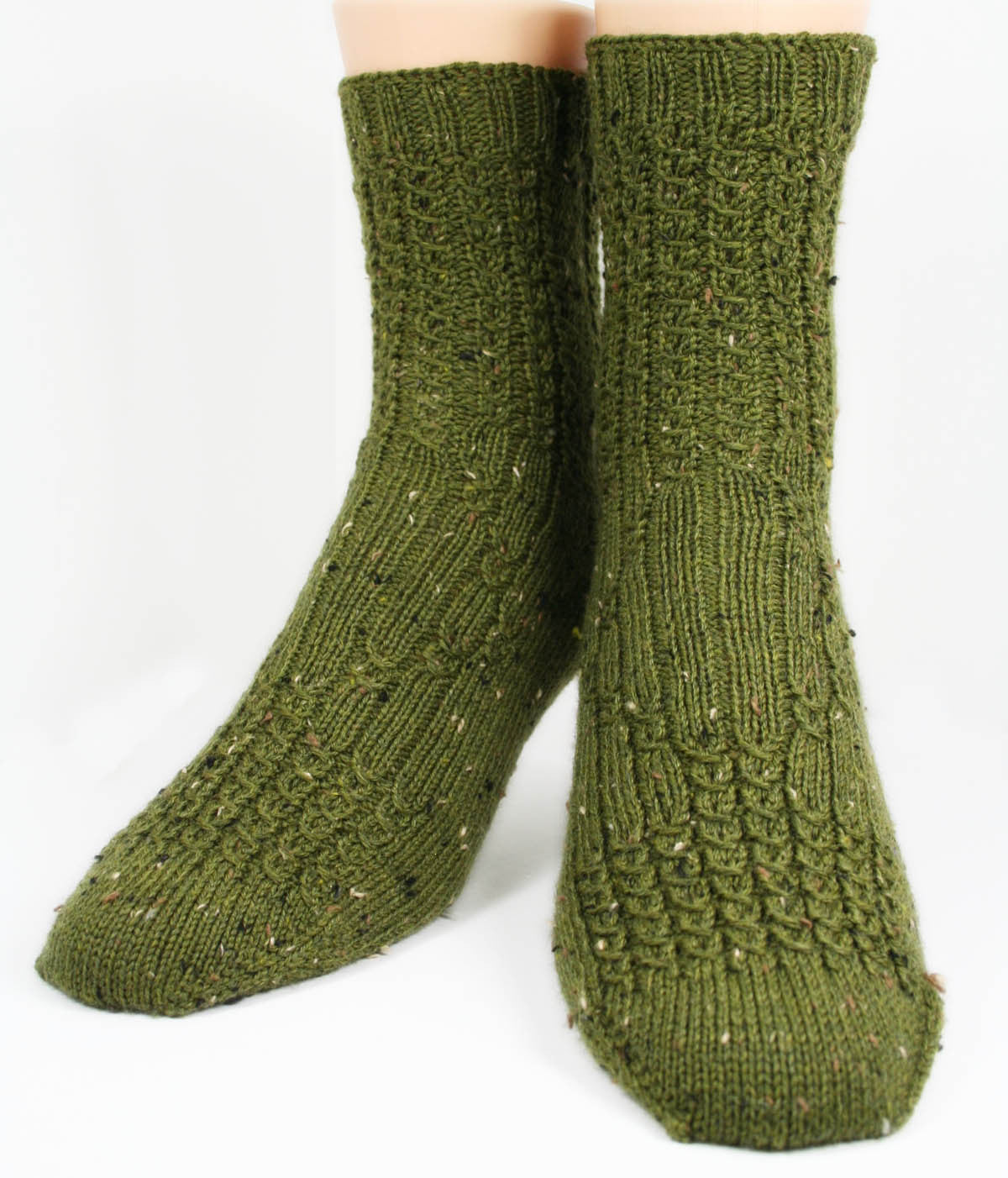 KNITTING PATTERN for Mock Cable Diamond Socks - Charted Sock pattern - Digital download