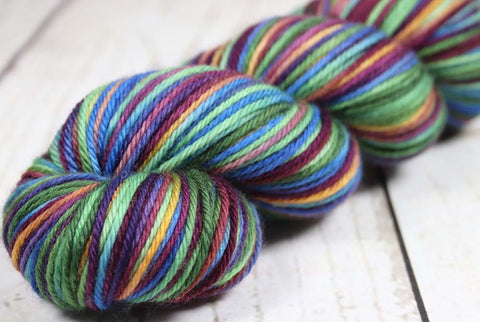 AVOCADO CHEESECAKE: SW Merino - Worsted weight - Hand dyed - Variegated yarn