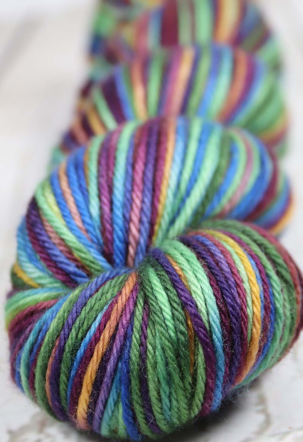MOODY RAINBOW: Superwash Merino - Worsted Weight - Hand dyed Variegated Yarn
