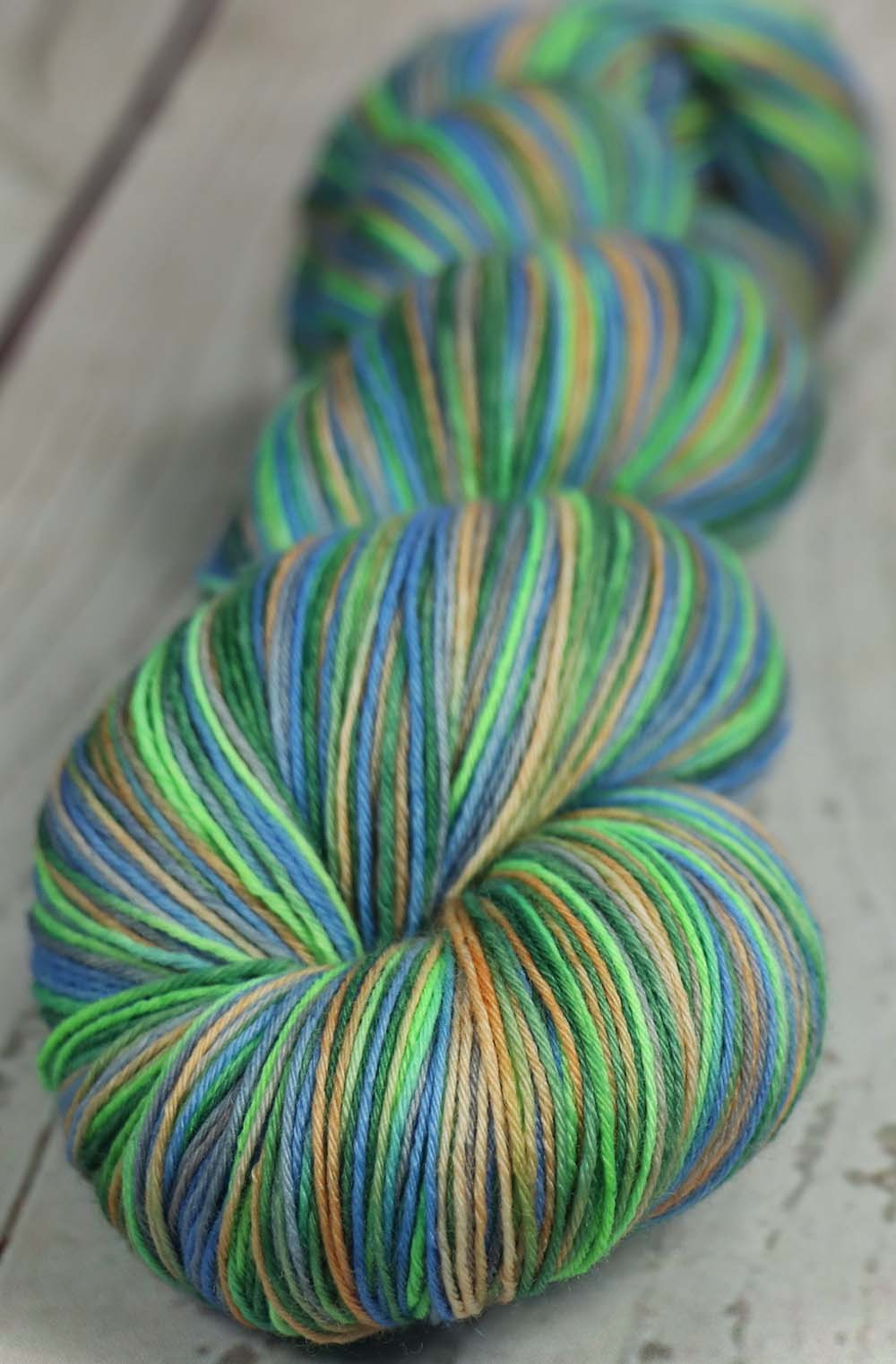 MORNING AT BILTMORE INN: SW Merino Hand dyed Light Sock Weight - Variegated Shawl length yarn