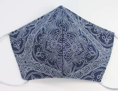 SNOWFLAKES (Black) Project Bag - Handmade zipper bag - knitting bag - craft bag
