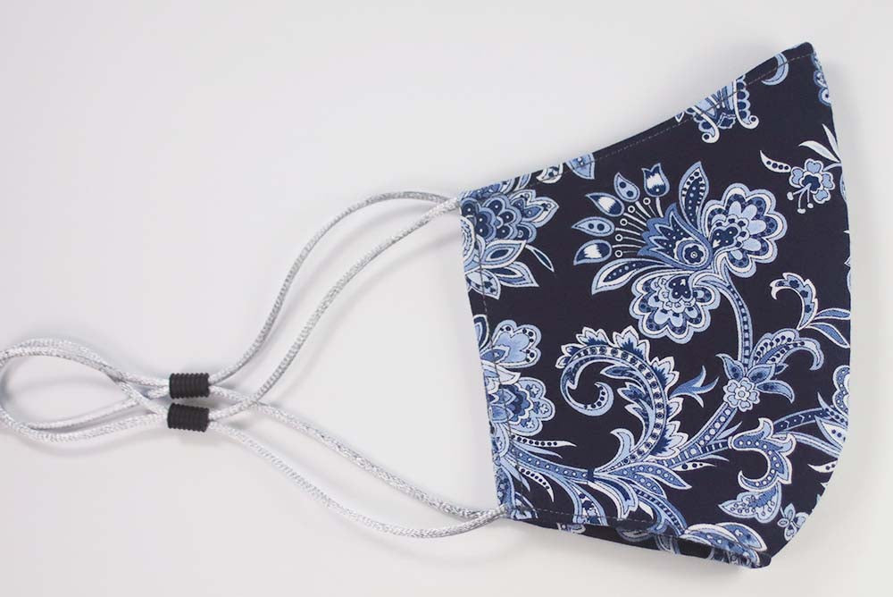 MASK: Jacobean in Navy #2 - Medium