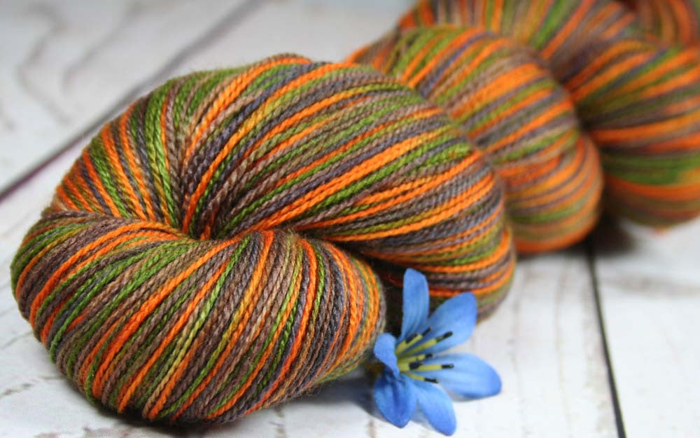 DARK CAMO: Superfine Merino-Silk - Hand dyed Lace Weight Yarn - Camouflage colors