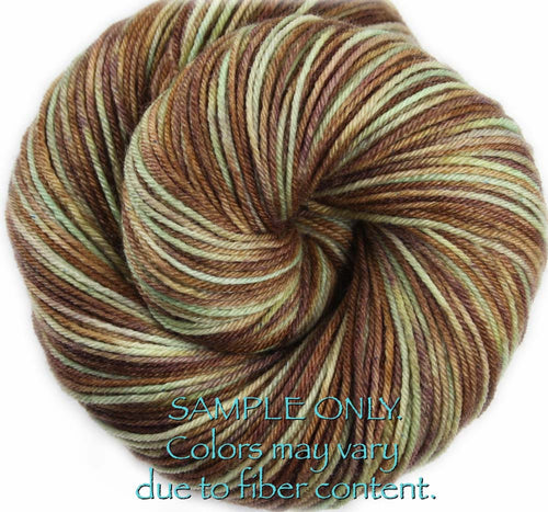 "Dyed to Order: ""SWISS CHOCOLATE"" colorway - Sock yarn -  Hand dyed - Variegated yarn - Chocolates yarn"