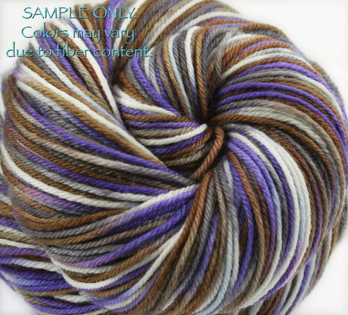 "Dyed to Order: ""NZ SHELL"" colorway - Sock yarn - Hand dyed - Variegated yarn - New Zealand inspired yarn"