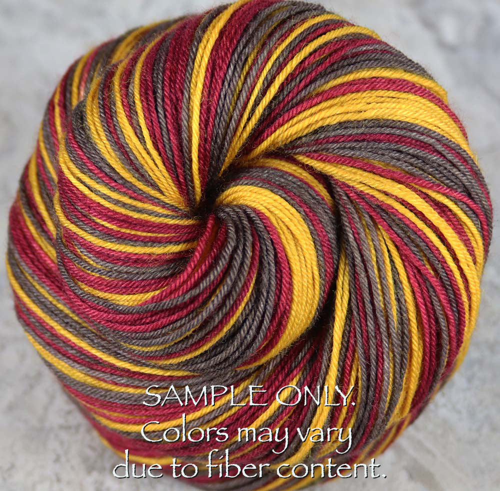 Dyed-To-Order: ODIN - Hand dyed Self Striping Sock Yarn - Norse Mythology - Asgard