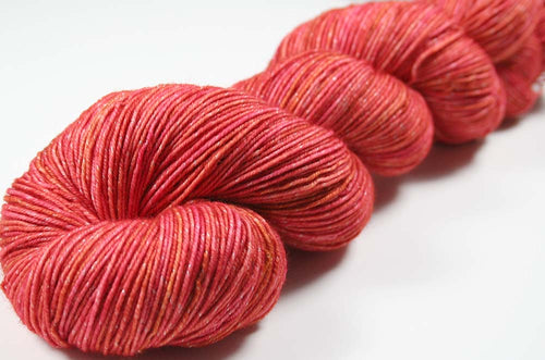 ORPIMENT: SW Merino Wool-Lurex Sparkle - Hand dyed Tonal sock yarn
