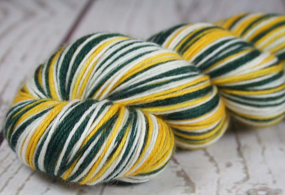 Dyed To Order Green Gold White Hand Dyed Sports Team Self