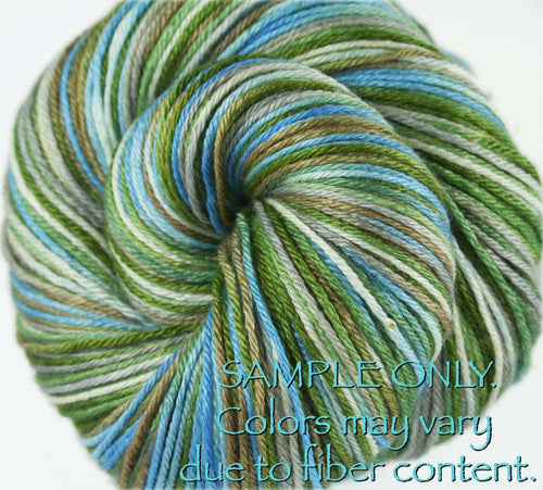 "Dyed to Order: ""PAPAYA PALM"" colorway - Sock yarn - Hand dyed - Variegated yarn - Hawaii inspired yarn"