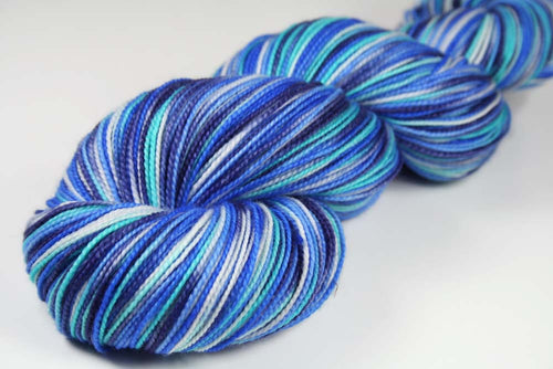 PILATUS: SW Merino Wool-Nylon-Stellina Sparkle - Sock Weight - Hand dyed Variegated yarn