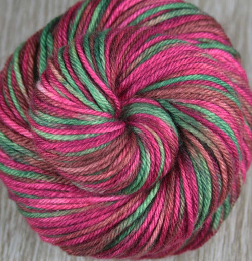 PINEAPPLE FIELDS: Superwash Merino - Worsted Weight Yarn - Hand dyed Variegated Yarn - tropical colors