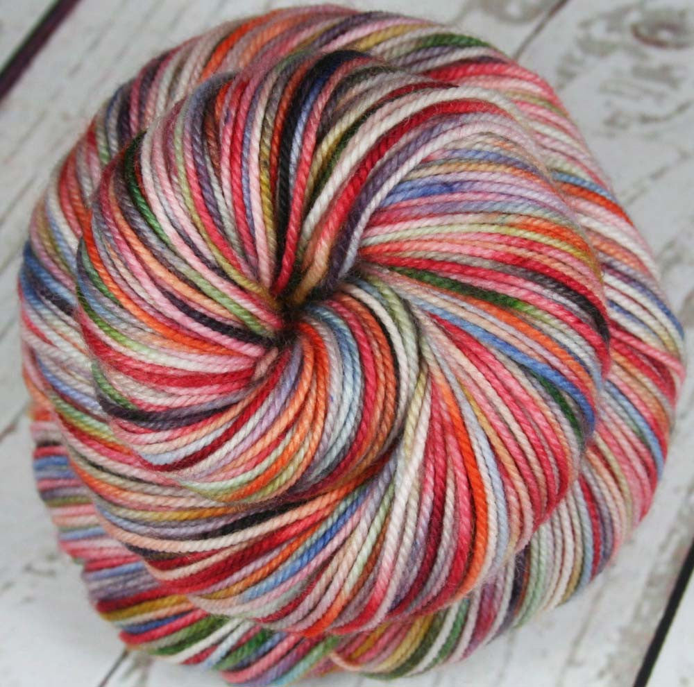 POT OF RAINBOW: Superwash Merino / Nylon - Sport Yarn - Hand dyed Variegated Rainbow yarn