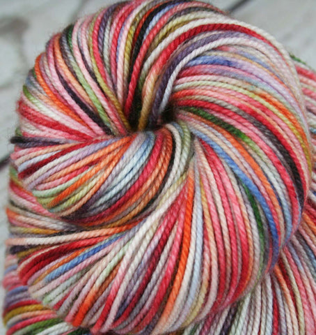 LAVA FLOW: Superwash Merino Wool-Lurex Sparkle - Fingering / Sock Weight Yarn - Hand dyed - Indie dyed - Variegated Pink yarn - Tropical yarn - Tropical drink yarn