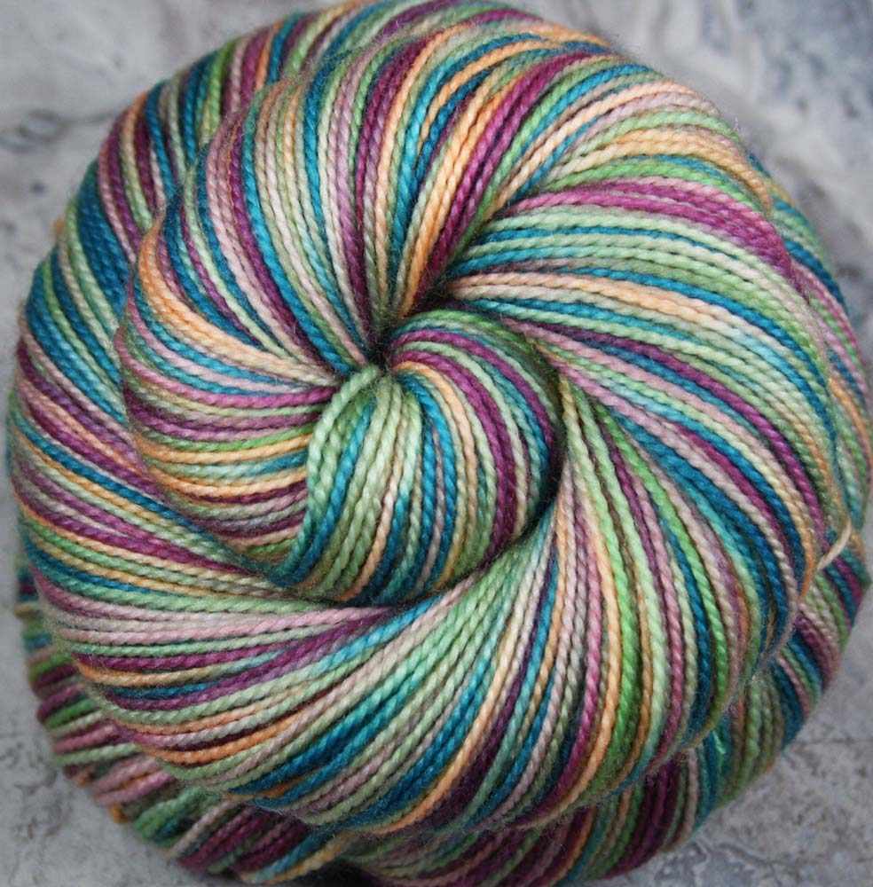 PRINCESS & THE PEA - Self-striping Sock Yarn - Hand dyed yarn - Indie dyed yarn - Children's book inspired yarn