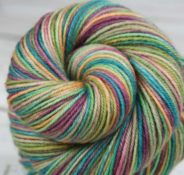 "Dyed to Order - ""PRINCESS & THE PEA"" - Hand dyed sock yarn - Variegated sock yarn - Indie dyed yarn - Children's book inspired yarn"