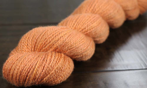 PUMPKIN SPICE LATTE:  Merino/Silk - Worsted weight - Hand dyed Pastel Tonal Yarn - OOAK