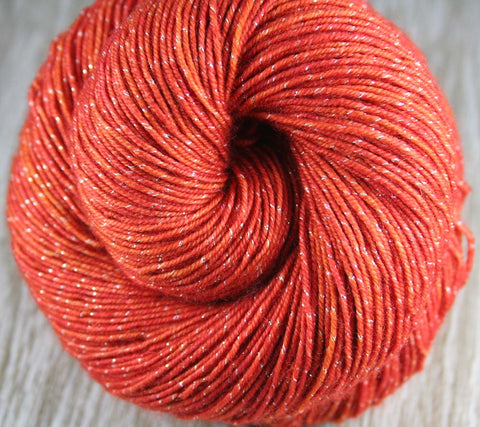 CASTLE CHRISTMAS: Superwash Merino Wool-Nylon - Hand dyed sock yarn - Variegated sock yarn - Holiday Christmas yarn - Tight Twist yarn