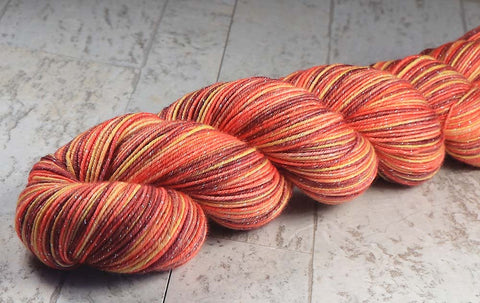 FLOWER GARDEN: Superwash Merino Light Sock Yarn - 822 yds - Hand dyed variegated yarn - shawl length
