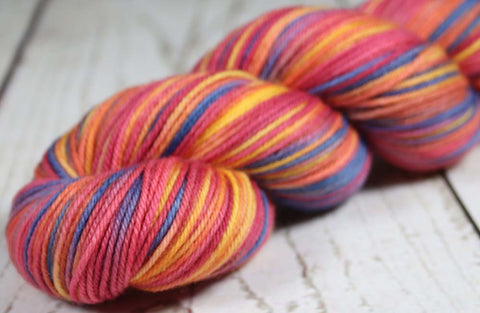 PACIFIC MOONRISE: SW Merino-Lurex Sparkle - Hand dyed Variegated sock yarn