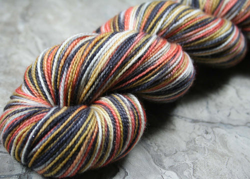 REDDINGITE: SW Merino-Nylon-Stellina Sparkle - Sock Weight Hand dyed variegated yarn