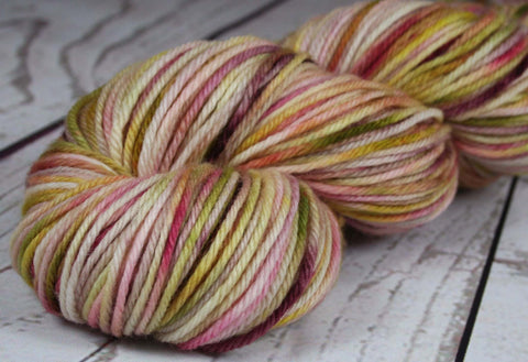VIBRANCY AT THE PLANTATION: SW Merino-Nylon DK - Hand dyed variegated yarn