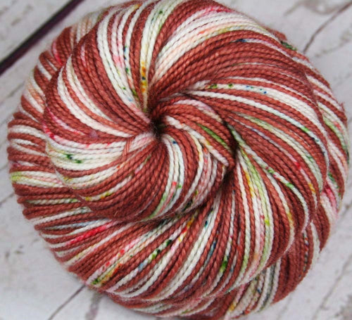 ROSE GARDEN: Superwash Merino Wool-Nylon- Self-Striping sock yarn - Hand dyed sock yarn - Tight Twist sock yarn