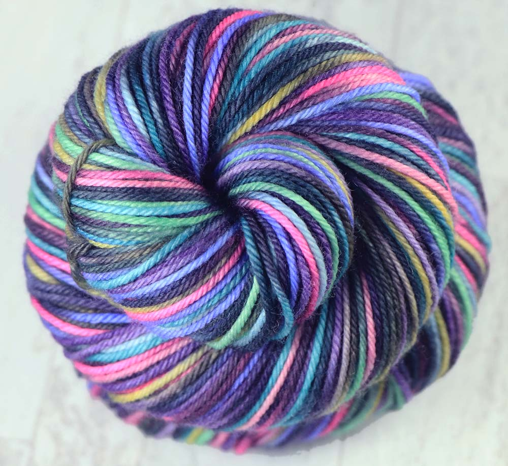 ROSE WINDOW: Superwash Merino-Nylon - Hand-dyed Variegated Sport yarn