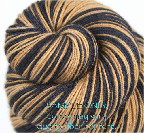 "Dyed to Order: Sports inspired Self-striping Sock Yarn - ""BLACK - BRONZE GOLD"" - Hand dyed yarn - Indie dyed yarn - Team colors - Football yarn - Baseball Basketball Racing Hockey Soccer yarn - School colors yarn - NEW ORLEANS"