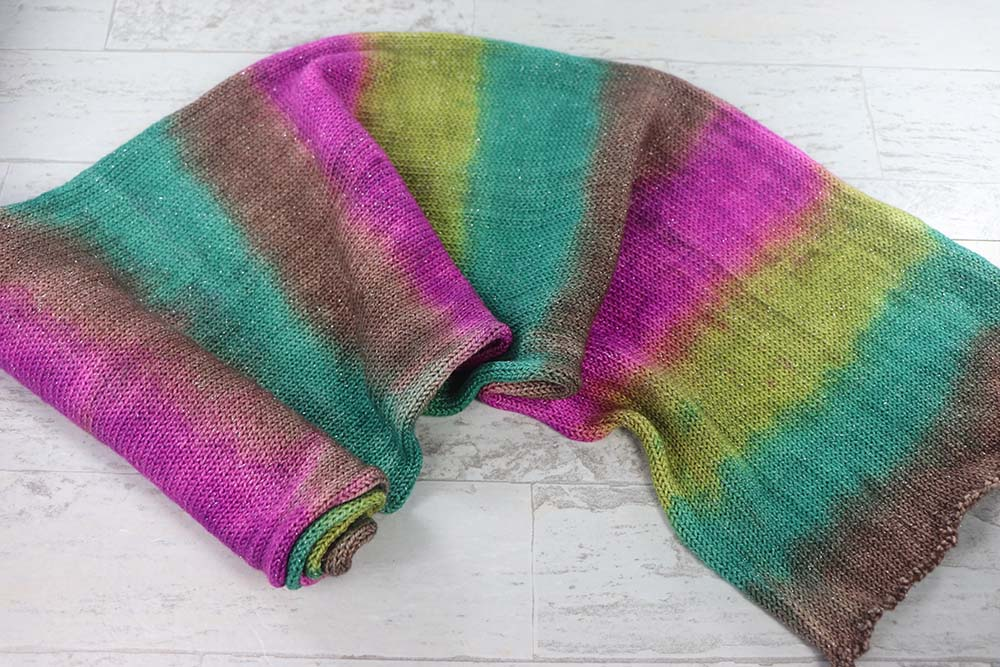 SATURATED SPRING: SW Merino-Nylon-Stellina - Single knit sock blank - Hand dyed yarn