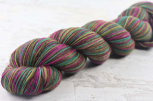 SATURATED SPRING: SW Merino-Yak-Nylon - Hand dyed Variegated sock yarn